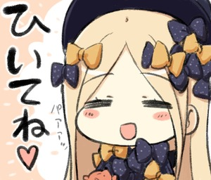 Rating: Safe Score: 0 Tags: 1girl :d =_= abigail_williams_(fate/grand_order) bangs black_bow black_hat blush_stickers bow closed_eyes engiyoshi eyebrows_visible_through_hair fate/grand_order fate_(series) hair_bow hat heart long_hair open_mouth orange_bow parted_bangs polka_dot polka_dot_bow smile solo stuffed_animal stuffed_toy teddy_bear translated User: Domestic_Importer