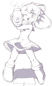 Rating: Safe Score: 1 Tags: 1girl ;d arm_cannon buttons capcom dress frills hair_ribbon long_hair looking_at_viewer monochrome one_eye_closed open_mouth ponytail ribbon rockman rockman_(classic) roll sidelocks smile solo toufu_yarou weapon User: DMSchmidt