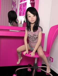 Rating: Safe Score: 20 Tags: 1girl 3dcg bare_legs black_hair bow chair closed_mouth electric_socket heart heart_print long_hair mirror namihey7_(user_snyf2227) notebook original photorealistic pink_shirt print_shirt reflection shirt short_sleeves shorts sitting solo User: Domestic_Importer