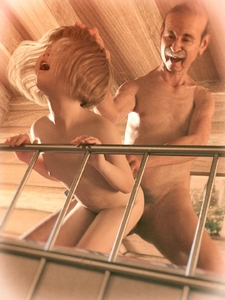 Rating: Explicit Score: 42 Tags: 1boy 1girl 3dcg age_difference bed bouba facial_hair flat_chest from_behind hair hand_on_another's_head hetero highres kneeling mustache navel nipples nude old_man open_mouth photorealistic pubic_hair sex smile teeth User: usernam