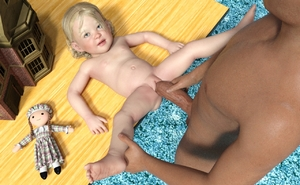 Rating: Explicit Score: 1 Tags: 1boy 1girl 3dcg age_difference blonde_hair blue_eyes doll doll_house imminent_sex photorealistic sex spread_legs spreading toddlercon User: PurpleMelon