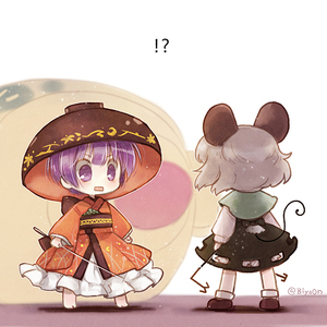 Rating: Safe Score: 0 Tags: !? 2girls animal_ears bangs barefoot biyon black_dress capelet dress grey_hair japanese_clothes kimono long_sleeves minigirl miracle_mallet mouse_ears mouse_tail multiple_girls nazrin needle obi purple_eyes purple_hair red_kimono sash short_hair standing sukuna_shinmyoumaru tail touhou_project twitter_username User: Domestic_Importer