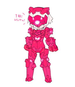 Rating: Safe Score: 0 Tags: 1girl bangs blade_(galaxist) covered_eyes desktop_army eyebrows_visible_through_hair facial_mark facing_viewer fang full_body gundam gundam_build_divers hair_between_eyes helmet mecha_musume ogre_gn-x open_mouth pink short_hair silver_hair solo standing translation_request white_background User: DMSchmidt
