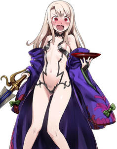 Rating: Safe Score: 8 Tags: 1girl 774_(nanashi) alcohol alternate_costume ass ass_visible_through_thighs bare_legs bare_shoulders blush breasts embarrassed fate/grand_order fate/kaleid_liner_prisma_illya fate/stay_night fate_(series) illyasviel_von_einzbern japanese_clothes kimono looking_at_viewer midriff navel off_shoulder open_mouth prisma_illya red_eyes sakazuki sake shuten_douji_(fate/grand_order) shuten_douji_(fate/grand_order)_(cosplay) silver_hair simple_background small_breasts solo stomach sword thigh_gap thighs wavy_mouth weapon white_background User: DMSchmidt