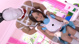 Rating: Questionable Score: 41 Tags: 1boy 1girl 3dcg age_difference alice_(wonderland) animal_ears bed bow brown_hair dress dress_lift dutch_angle flat_chest gloves hair_bow hairband hands_on_another's_shoulders looking_at_viewer mask namihey7_(user_snyf2227) photorealistic pillow pose pussy shadow smile spade standing thighhighs twin_tails white_rabbit yellow_eyes User: fantasy-lover