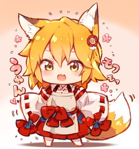 Rating: Safe Score: 0 Tags: 1girl :3 animal_ear_fluff animal_ears bangs blonde_hair blush chibi flower fox_ears fox_tail hair_between_eyes hair_flower hair_ornament heart highres japanese_clothes looking_at_viewer miko open_mouth ribbon_trim senko_(sewayaki_kitsune_no_senko-san) sewayaki_kitsune_no_senko-san smile solo spoken_heart standing sukemyon tail wide_sleeves yellow_eyes User: Domestic_Importer