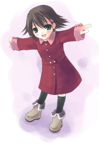 Rating: Safe Score: 0 Tags: 1girl bad_id brown_hair coat hair_ornament hairclip highres isurugi_noe okota_(artist) outstretched_arm short_hair smile solo spread_arms true_tears User: DMSchmidt