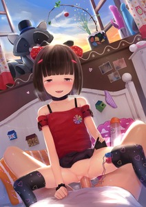 Rating: Explicit Score: 31 Tags: 1boy 1girl :d absurdres age_difference artist_name bangs bare_shoulders bed black_legwear black_skirt blue_sky blunt_bangs blush bob_cut bottomless brown_hair clitoral_hood clitoris clothed_sex cloud collarbone cowgirl_position dildo discreet_vibrator dot_nose dutch_angle eyebrows_visible_through_hair flat_chest groin half-closed_eyes head_tilt heart heart_print hetero highres hitachi_magic_wand huge_filesize indoors liclac lifted_by_self looking_at_viewer lotion miniskirt nopan nose_blush off-shoulder_shirt off_shoulder open_mouth open_window original paid_reward panties_removed pantsu patreon_reward plant pleated_skirt potted_plant pov pov_eye_contact print_legwear red_eyes red_shirt remote_control_vibrator ribbon-trimmed_sleeves ribbon_trim scrunchie self_exposure sex sex_toy shimapan shirt short_hair short_sleeves skindentation skirt skirt_lift sky smile straddling striped sunset thighhighs uncensored underwear vaginal vibrator vibrator_in_thighhighs white_shirt window wrist_scrunchie User: Domestic_Importer