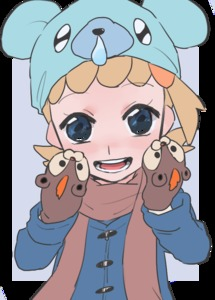 Rating: Safe Score: 0 Tags: 1girl :d alternate_costume bear black_background blonde_hair blue_coat blue_eyes creatures_(company) cubchoo eureka_(pokemon) game_freak litleo nintendo open_mouth pokemon pokemon_(game) pokemon_xy smile suzuki_zentarou User: Domestic_Importer