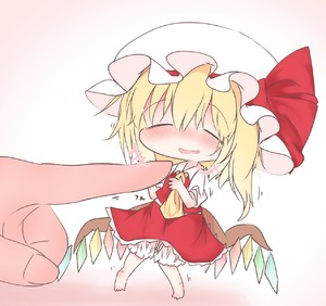Rating: Safe Score: 0 Tags: +++ 1girl :d ascot bangs barefoot blonde_hair blush bow breasts chibi closed_eyes collared_shirt crystal eyebrows_visible_through_hair flandre_scarlet frilled_hat frilled_skirt frills hands_up hat hat_bow head_out_of_frame highres knees_together_feet_apart legs_apart medium_skirt mob_cap motion_lines nose_blush open_mouth pigeon-toed puffy_short_sleeves puffy_sleeves raised_eyebrows red_bow red_skirt shirt short_hair short_sleeves shoupon side_ponytail simple_background size_difference sketch_eyebrows skirt skirt_set small_breasts smile solo_focus standing touhou_project translation_request wavy_mouth white_background white_hat wing_collar wings yellow_neckwear |d User: DMSchmidt