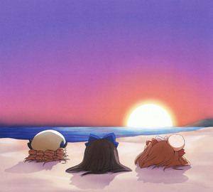 Rating: Safe Score: 0 Tags: 3girls absurdres beach blonde_hair buried ham_(points) head_bump highres luna_child multiple_girls ocean scan scan_artifacts star_sapphire sunny_milk sunset team_shanghai_alice touhou_project User: DMSchmidt