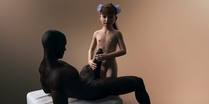 Rating: Explicit Score: 18 Tags: 1boy 1girl 3dcg age_difference bangs blunt_bangs brown_skin dark_skinned_male flat_chest hair_flower holding_penis interracial long_hair looking_at_viewer lying navel nipples nude photorealistic ponytail pose pussy sabine_heinrich standing User: fantasy-lover