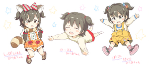 Rating: Safe Score: 0 Tags: 1girl :d :o ^_^ akagi_miria animal_ears black_footwear black_hair blush_stickers bow brown_eyes brown_footwear center_frills closed_eyes diagonal_stripes frills gomennasai hair_bow hair_ornament idolmaster idolmaster_cinderella_girls kemonomimi_mode long_sleeves multiple_views no_shoes open_mouth orange_shirt outstretched_arm overall_shorts plaid plaid_shorts pleated_skirt puffy_short_sleeves puffy_sleeves raccoon_ears raccoon_tail red_skirt shirt shoes short_sleeves shorts skirt smile socks star star_hair_ornament striped striped_bow striped_legwear suspender_shorts suspenders tail two_side_up upper_teeth white_background white_legwear white_shirt User: Domestic_Importer