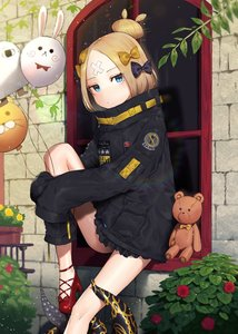 Rating: Safe Score: 0 Tags: 1girl abigail_williams_(fate/grand_order) balloon bandaid bandaid_on_face black_bow black_coat blonde_hair blue_eyes bow day fate/grand_order fate_(series) hair_bow highres leg_hug looking_at_viewer outdoors polka_dot polka_dot_bow pumps red_footwear shibainu short_hair sitting sleeves_past_wrists solo stuffed_animal stuffed_toy teddy_bear tied_hair yellow_bow User: DMSchmidt