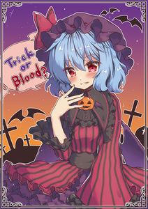 Rating: Safe Score: 0 Tags: 1girl :p alternate_costume beni_kurage border closed_mouth cross fang_out halloween highres looking_at_viewer remilia_scarlet smile solo speech_bubble tombstone tongue tongue_out touhou_project trick_or_treat User: DMSchmidt