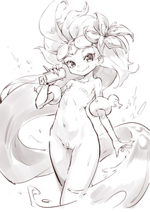 Rating: Questionable Score: 4 Tags: 1girl absurdres bandaid bandaid_on_pussy bandaids_on_nipples can closed_mouth collarbone flat_chest flower goggles greyscale hair_flower hair_ornament hibiscus highres holding holding_can league_of_legends licking_lips long_hair looking_at_viewer monochrome navel nude pasties pool_party_zoe rubber_duck shanyao_jiang_tororo simple_background sketch smile solo tongue tongue_out very_long_hair white_background zoe_(league_of_legends) User: DMSchmidt