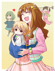 Rating: Safe Score: 0 Tags: 10s 4girls abekawa baby_carrier bare_shoulders birthmark blonde_hair boots brown_hair carrying_under_arm colourful coveralls dress futaba_anzu hair_ornament heart idolmaster idolmaster_cinderella_girls jewellery jumpsuit long_hair moroboshi_kirari multiple_girls oikawa_shizuku open_mouth pantyhose pitchfork running skirt smile sweatdrop takagaki_kaede User: DMSchmidt