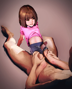 Rating: Explicit Score: 34 Tags: 1boy 1girl absurdres arm_support blue_shorts brown_eyes brown_hair clothed_female_nude_male cum cum_on_body cum_on_clothes cum_on_lower_body diathorn ejaculation erection faceless faceless_male grinding highres knees_together_feet_apart leaning_back lying navel nude nue on_back original penis pink_shirt shirt shirt_lift short_hair short_shorts shorts sitting sitting_on_person smile thigh_grab thigh_sex User: DMSchmidt