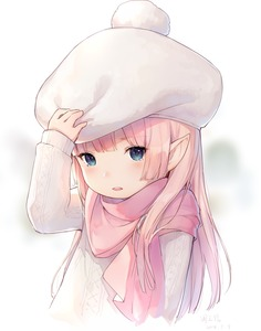 Rating: Safe Score: 4 Tags: 1girl ayuanlv blue_eyes blush final_fantasy final_fantasy_xiv hand_on_hat hat highres lalafell long_hair long_sleeves looking_at_viewer pink_hair pointy_ears scarf solo tears winter_clothes User: DMSchmidt