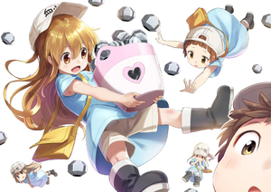 Rating: Safe Score: 1 Tags: 5girls black_footwear blonde_hair blue_shirt boots brown_eyes brown_hair character_name floating_hair hair_between_eyes hat hataraku_saibou holding long_hair multiple_girls outstretched_arm platelet_(hataraku_saibou) shiny shiny_hair shirt short_hair short_shorts short_sleeves shorts tokumaro very_long_hair white_hat white_shorts User: DMSchmidt