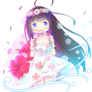 Rating: Safe Score: 2 Tags: 1girl :d bangs bare_shoulders blue_eyes blush brown_hair collarbone dress eyebrows_visible_through_hair flower flower_wreath hair_down head_wreath highres hinatsuru_ai holding long_hair open_mouth red_flower ryuuou_no_oshigoto! scrunchie sleeveless sleeveless_dress smile solo su_guryu very_long_hair white_dress white_flower white_scrunchie wrist_scrunchie User: Domestic_Importer