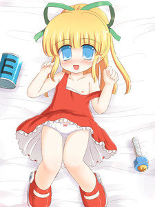 Rating: Questionable Score: 1 Tags: 1girl blonde_hair blue_eyes blush bow bow_panties capcom dress_pull flat_chest hair_ribbon pantsu ponytail red_skirt ribbon rockman rockman_(classic) roll ry skirt solo underwear User: DMSchmidt