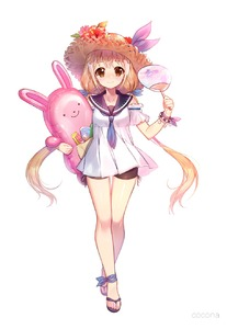 Rating: Safe Score: 0 Tags: 1girl ankle_ribbon arm_strap black_shorts blann blonde_hair blue_neckwear blue_ribbon blush bracelet brown_eyes dress fan floating_hair flower full_body futaba_anzu hair_between_eyes hat hat_flower hat_ribbon hibiscus highres holding holding_fan idolmaster idolmaster_cinderella_girls jewellery long_hair looking_at_viewer pink_flower pleated_dress purple_ribbon red_flower ribbon short_dress short_shorts shorts shorts_under_dress simple_background sleeveless sleeveless_dress smile solo spats standing straw_hat sun_hat twin_tails very_long_hair white_background white_dress yellow_hat User: Domestic_Importer