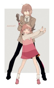 Rating: Safe Score: 0 Tags: 1boy 1girl akechi_gorou black_gloves bow brown_hair doujima_nanako dress full_body gloves grey_background hair_bow ivxxx long_sleeves necktie open_mouth persona persona_4 persona_5 pose short_twin_tails simple_background twin_tails User: DMSchmidt