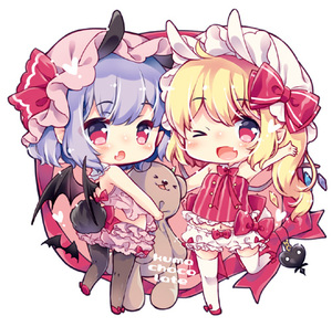 Rating: Safe Score: 0 Tags: 2girls :o ;d ahoge animal_ears aogiri_sei arm_up bare_arms bare_shoulders bat_wings black_legwear blonde_hair bloomers blush bow bunny_ears bunny_girl bunny_tail chibi extra_ears eyebrows_visible_through_hair fang flandre_scarlet full_body hat hat_ribbon heart holding kemonomimi_mode looking_at_viewer looking_back lowres mob_cap multiple_girls one_eye_closed open_mouth pantyhose pointy_ears purple_hair red_bow red_eyes red_ribbon remilia_scarlet ribbon short_hair siblings side_ponytail simple_background sisters smile standing standing_on_one_leg stuffed_animal stuffed_toy tail teddy_bear thighhighs touhou_project underwear waving white_background white_legwear wings User: DMSchmidt
