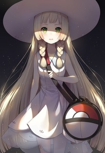 Rating: Safe Score: 6 Tags: 1girl ayuanlv bag bangs black_background blonde_hair blunt_bangs blush braid breasts cowboy_shot dated dress eyelashes green_eyes hat highres lillie_(pokemon) long_hair looking_at_viewer open_mouth poke_ball_theme pokemon pokemon_(game) pokemon_sm see-through side_braid sleeveless sleeveless_dress solo standing straight_hair sun_hat translation_request twin_braids white_dress white_hat User: DMSchmidt