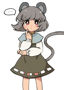 Rating: Safe Score: 0 Tags: ... 1girl animal_ears capelet cowboy_shot cutout dress eyebrows_visible_through_hair grey_dress grey_hair jewellery long_sleeves looking_at_viewer mouse_ears mouse_tail nazrin pendant red_eyes sasa_kichi short_hair simple_background solo spoken_ellipsis tail touhou_project white_background User: DMSchmidt
