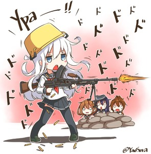 Rating: Safe Score: 0 Tags: 10s 4girls akatsuki_(kantai_collection) aqua_eyes aqua_hair black_legwear black_skirt blush_stickers bren_lmg brown_hair firing flat_cap folded_ponytail gun hat hibiki_(kantai_collection) hiding ikazuchi_(kantai_collection) inazuma_(kantai_collection) kantai_collection loafers long_hair long_sleeves machine_gun multiple_girls muzzle_flash neckerchief o_o pleated_skirt pot pot_on_head sailor_collar school_uniform serafuku shell_casing shoes short_hair skirt thighhighs twitter_username weapon yaosera User: Domestic_Importer