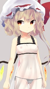 Rating: Questionable Score: 3 Tags: 1girl :/ arms_at_sides ass_visible_through_thighs bare_arms bare_shoulders blonde_hair bow breasts cameltoe closed_mouth crystal expressionless flandre_scarlet frills grey_background groin hat hat_bow hat_ribbon highres long_hair looking_to_the_side mob_cap navel nekoha nightgown nipples orange_eyes pantsu red_bow red_ribbon ribbon see-through side-tie_bottom side-tie_panties side_ponytail simple_background slit_pupils small_breasts solo standing stomach touhou_project underwear upper_body wavy_hair wings User: Domestic_Importer