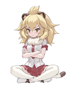 Rating: Safe Score: 1 Tags: >:< 1girl >:< animal_ears blonde_hair blush boots closed_mouth crossed_arms crossed_legs extra_ears fkey full_body fur_collar hair_between_eyes kemono_friends lion_(kemono_friends) lion_ears lion_tail long_hair looking_at_viewer necktie pleated_skirt red_neckwear red_skirt short_sleeves simple_background sitting sketch skirt solo tail thighhighs white_background white_legwear white_sleeves yellow_eyes User: DMSchmidt