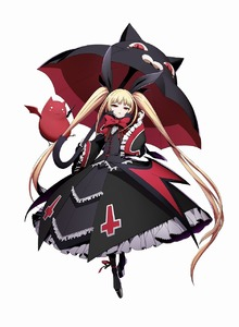 Rating: Safe Score: 0 Tags: 1girl blazblue blazblue:_cross_tag_battle blonde_hair gothic_lolita highres lolita_fashion official_art rachel_alucard red_eyes twin_tails umbrella User: DMSchmidt