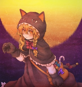 Rating: Safe Score: 1 Tags: 1girl animal_costume bag bell blonde_hair bow braid candy cat_costume cat_tail hair_bow halloween hood karioda kirisame_marisa long_hair looking_at_viewer solo tail touhou_project yellow_eyes User: DMSchmidt