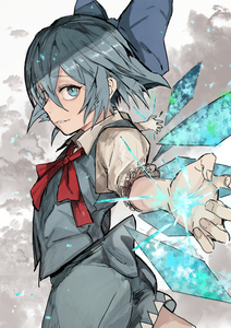 Rating: Safe Score: 0 Tags: 1girl absurdres bangs blue_bow blue_dress blue_eyes blue_hair blue_skirt blue_vest bow cirno cloud cowboy_shot dress eyebrows_visible_through_hair fingernails foreshortening hair_between_eyes hair_bow highres hiranko ice ice_wings looking_at_viewer looking_to_the_side parted_lips puffy_short_sleeves puffy_sleeves short_hair short_sleeves sketch skirt smile solo touhou_project vest wings User: DMSchmidt