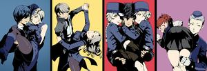 Rating: Safe Score: 2 Tags: 4boys 5girls amamiya_ren ass black_hair blonde_hair blue_eyes blush braid caroline_(persona_5) carrying carrying_over_shoulder dancing elizabeth_(persona) eyepatch female_protagonist_(persona_3) glasses gloves hat highres justine_(persona_5) long_hair looking_at_viewer margaret_(persona) multiple_boys multiple_girls nanaya_(daaijianglin) narukami_yuu persona persona_3 persona_3_portable persona_4 persona_5 princess_carry short_hair simple_background smile teodor white_hair yellow_eyes yuuki_makoto User: DMSchmidt