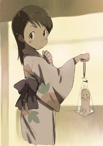 Rating: Safe Score: 0 Tags: 1girl brown_eyes brown_hair dennou_coil hashimoto_fumie japanese_clothes kawata_hisashi kimono long_hair oyaji yukata User: DMSchmidt