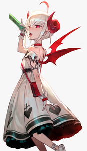 Rating: Safe Score: 1 Tags: 1girl bag choker curled_horns dress fangs from_side gloves grey_background hand_up highres holding index_finger_raised lack looking_at_viewer makaino_ririmu nijisanji open_mouth pointy_ears red_choker red_eyes shoes shoulder_bag simple_background slit_pupils solo standing tongue tongue_out translated white_dress white_footwear white_gloves wings User: DMSchmidt