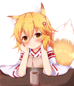 Rating: Safe Score: 0 Tags: 1girl :3 animal_ear_fluff animal_ears arm_support bangs blonde_hair blush brown_eyes closed_mouth cup elbows_on_table eyebrows_visible_through_hair flower fox_ears fox_girl fox_tail hair_between_eyes hair_flower hair_ornament head_tilt japanese_clothes kedama_(kedama_akaza) kimono red_flower ribbon-trimmed_sleeves ribbon_trim senko_(sewayaki_kitsune_no_senko-san) sewayaki_kitsune_no_senko-san short_sleeves simple_background solo table tail tea_stalk white_background white_kimono wide_sleeves yunomi User: Domestic_Importer