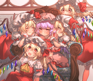 Rating: Safe Score: 0 Tags: 5girls :3 :d >:( ^_^ ascot bangs bent_over blonde_hair blush bow brooch closed_eyes couch crystal eyebrows_visible_through_hair facing_another fang_out feet_out_of_frame flandre_scarlet floral_print four_of_a_kind_(touhou) frilled_shirt_collar frills from_side hair_between_eyes hands_up hat hat_bow highres index_finger_raised indoors jewellery lavender_hair long_hair masanaga_(tsukasa) mob_cap multiple_girls multiple_persona one_side_up open_mouth petticoat pink_hat pointy_ears profile puffy_short_sleeves puffy_sleeves red_bow red_eyes red_neckwear red_skirt red_vest remilia_scarlet shadow shirt short_hair short_sleeves siblings sisters sitting skirt skirt_set smile socks touhou_project v-shaped_eyebrows vest white_hat white_legwear white_shirt wings wrist_cuffs yellow_neckwear User: DMSchmidt