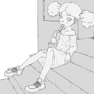 Rating: Safe Score: 3 Tags: 1girl bare_shoulders candy cheesekun curly_hair dress flat_chest holly_(pnf) lollipop long_sleeves monochrome phineas_and_ferb sexually_suggestive shoes sitting sitting_on_stairs sketch source_request stairs tongue tongue_out twin_tails User: cheesekun