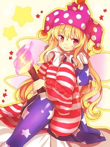 Rating: Safe Score: 1 Tags: 1girl american_flag_dress american_flag_legwear blonde_hair blush clownpiece dutch_angle fairy_wings feet hat jester_cap leg_up long_hair looking_at_viewer matryoshka_(borscht) pantyhose print_legwear purple_eyes short_sleeves sitting smile solo star star-shaped_pupils striped striped_legwear symbol-shaped_pupils touhou_project wings User: DMSchmidt