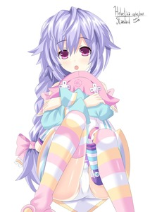 Rating: Questionable Score: 1 Tags: 10s 1girl 2017 artist_name bare_shoulders blue_shirt bow braid character_doll choujigen_game_neptune d-pad dated dress hair_bow hair_ornament helvetica_5tandard highres hug knees_up long_hair low-tied_long_hair neptune_(neptune_series) neptune_(series) object_hug open_mouth panchira pantsu pantyshot_(sitting) ponytail purple_eyes purple_hair pururut ribbon shirt short_hair signature single_braid sitting skirt slippers solo striped striped_legwear stuffed_toy thighhighs underwear very_long_hair white_pantsu white_skirt User: DMSchmidt
