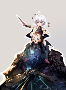 Rating: Safe Score: 0 Tags: 1boy 1girl ahoge bare_shoulders blush blush_stickers carrying dagger fate/grand_order fate_(series) frown green_eyes hands_together highres horn_grab jack_the_ripper_(fate/apocrypha) king_hassan_(fate/grand_order) nose_blush pupupu_(1053378452) short_hair shoulder_carry silver_hair size_difference skull sweatdrop tattoo triangle_mouth weapon User: DMSchmidt