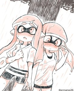 Rating: Safe Score: 1 Tags: 2girls bangs bare_arms blunt_bangs blush breasts closed_mouth cowboy_shot domino_mask eromame fang hand_up inkling legs_apart long_hair looking_down looking_up mask medium_breasts monochrome multiple_girls nose_blush open_mouth pointy_ears shirt short_sleeves side-by-side spats splatoon splatoon_1 standing suction_cups tank_top tentacle_hair twitter_username wet wet_clothes wet_hair wet_shirt User: DMSchmidt