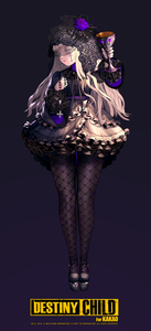 Rating: Safe Score: 0 Tags: 1girl black_legwear black_nails blue_eyes cross cross_necklace cross_tattoo destiny_child dress earrings facial_tattoo fishnets flat_chest flower frilled_dress frilled_sleeves frills full_body goblet gothic_lolita grey_background hair_flower hair_ornament highres jewellery lolita_fashion long_hair long_legs looking_to_the_side nail_polish necklace nightmadness nose official_art platform_footwear purple_flower purple_rose rita_(destiny_child) rose solo tattoo thighhighs veil white_hair wide_sleeves User: DMSchmidt