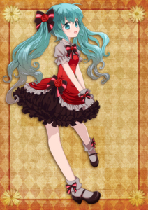Rating: Safe Score: 0 Tags: 1girl aqua_eyes aqua_hair gloves hatsune_miku high_heels highres long_hair mary_janes open_mouth oumi_sanaka shoes skirt socks solo twin_tails very_long_hair vocaloid User: DMSchmidt