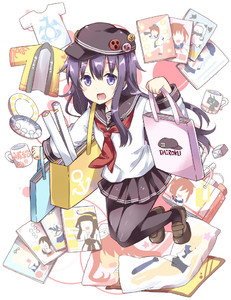Rating: Safe Score: 0 Tags: 10s 1girl :d akagi_(kantai_collection) akatsuki_(kantai_collection) anchor_symbol bag black_legwear black_skirt cup dakimakura_(object) flat_cap happi hat hat_pin hibiki_(kantai_collection) inazuma_(kantai_collection) japanese_clothes kadokawa_shoten kantai_collection kongou_(kantai_collection) libeccio_(kantai_collection) loafers long_hair long_sleeves looking_at_viewer merchandise mug neckerchief northern_ocean_hime open_mouth pantyhose paper_bag pillow plate pleated_skirt poster_(object) purple_eyes purple_hair rensouhou-chan rioshi ro-500_(kantai_collection) sailor_collar school_uniform serafuku shimakaze_(kantai_collection) shirt shoes skirt smile solo t-shirt yukikaze_(kantai_collection) yuudachi_(kantai_collection) User: Domestic_Importer